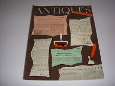 ANTIQUES Magazine, March, 1954, WILLIAM IV FURNITURE, TURKISH CARPET, PEALE!