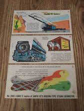 1950's Lionel Paper Nabisco Train-O-Rama #2065 Santa Fe's Steam Locomotive