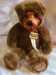 Raikes Teddy Bear, Woody, Used With Tags