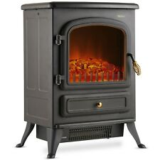 VonHaus 1850W Portable Electric Stove Heater Log Burning Effect Fireplace