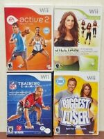 Biggest Loser, EA Active 2, Jillian 2009 NFL Training Nintendo Wii / Wii U Game