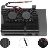 Cooling Fan for Raspberry Pi  4 Model Heatsinks  Aluminum Alloy Case Latest