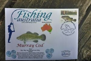 2003 FISHING AUSTRALIA ALPHA FIRST DAY COVER MURRAY COD STAMP