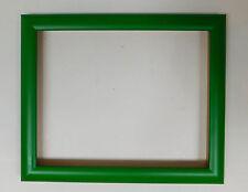 Holzrahmen - Leerrahmen - 30 x 24 cm grün tolles Profil indeal für Ölgemälde