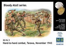 "Masterbox 1:35 ""Hand-To-Hand Combat"" Tarawa 1943 US & Japanese Figures Model Kit"