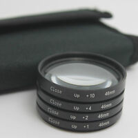 46mm Macro Close Up +1 +2 +4 +10 Lens Filter Kit For Panasonic Olympus Camera