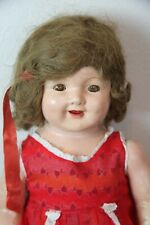 """30"""" Antique Unmarked Composition Doll, mohair wig"""
