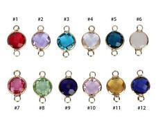 Pick 1 Set Mixed Birthstone Charms 6mm Austrian Crystal 12birthstones Making Cc1
