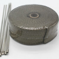 """Titanium Lava Exhaust Wrap Header Pipe Heat Insulation Thermal Tape Roll 2""""x 50'"""