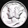 1944-S AU MERCURY DIME / SAN FRANCISCO MINT ALMOST UNCIRCULATED 90% SILVER COIN