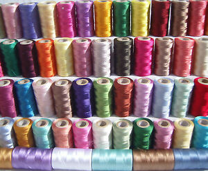 48 spools of sewing machine silk art embroidery threads, 48 Different Colors