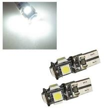 2 X XENON WHITE 5 SMD 501 W5W T10 CANBUS ERROR FREE LED SIDELIGHT BULBS 6000K