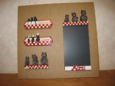 ORVAL *NEW* Porte-torchons Chats 12x9cm