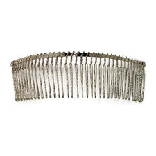 6 Metal Hair Combs 36 Wire Teeth Silver Bridal Prom Supply Accessory 5.7 145 Mm