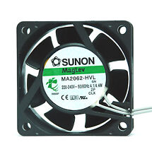 50pc SUNON AC Fan MagLev MA2062-HVL GN AC220-240V 50/60Hz 4.1/4.4W 60x60x25mm UL