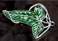 LOTR Lord Of The Rings's leaf Brooch Pin 18inch Chain Necklace Pendant Wholesale