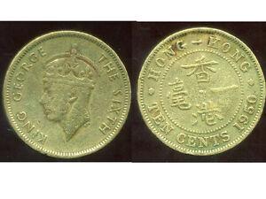 HONG KONG 10 cents 1950   ( it )
