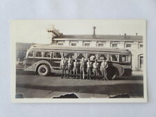 Vintage Canadian Bus Photograph with Drivers - Canada Bus Driver Transit History