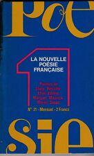 LA NOUVELLE POESIE FRANCAISE  N° 21  CLUNY DELVAILLE KHAIR EDDINE MARQUET ETC