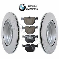 NEW BMW E92 E93 Set of Rear Left & Right Vented Brake Rotors with Pads Genuine