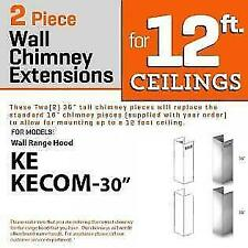 Zline Wall Chimney Extension upto 12 ft ceiling models Ke, Kecom-30 (2Pcext)