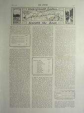 1900 VICTORIAN PRINT ~ LONDON UNDERGROUND STATIONS CENTRAL LONDON RAILWAY