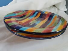 TABLETOPS Unlimited MADRID Dinner PLATES  11 Inch Set of 2