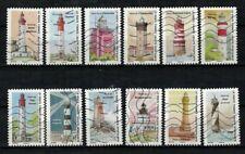 NOUVEAUTE 2020 les 12 timbres du Carnet - PHARES oblitérés