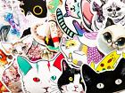 50 Cute Fat Grumpy Anime Cat Kitty Stickers For Laptop Phone Girls Teens BG