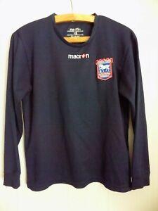 Ipswich Town FC Original Macron Football Soccer Jersey Top Long Sleeve Shirt