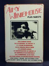 AMY WINEHOUSE CONCERT POSTER VINTAGE RETRO LARGE METAL SIGN  30x40 CM SOUL&JAZZ