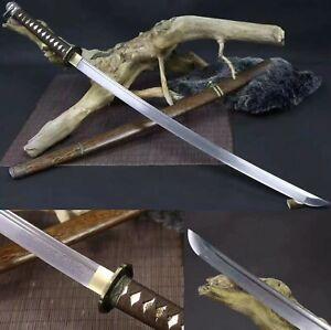 Handmade Damascus Folded Steel Japanese 98 Saber Sharp Samurai Katana Sword