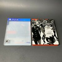 Persona 5 SteelBook Launch Edition (Sony PlayStation 4, PS4) w/ Slipcover RARE