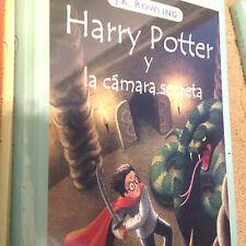 New Spanish Hardcover Harry Potter y la camara secreta Shrinkwrap Book