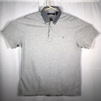 Axist Men's Medium Gray Short Sleeve Polo Shirt Front Pocket