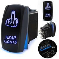 Laser FINGER REAR LIGHTS Rocker Switch ON-OFF LED Light 20A  5pin Blue Car Boat