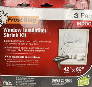 Shrink Window Kit, Indoor, 42 x 62 in