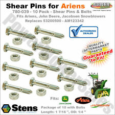 780-039 - 10 Pack of Shear Bolts/Nuts for Ariens 53200500 John Deere AM123342
