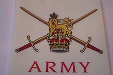 "2 X  ARMY       HM ARMED FORCES  STICKERS  4"" BRITISH ARMY USA  BADGES MILITARY"