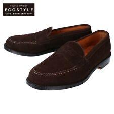 Alden N9206 suede penny loafers / shoes 8 Dark brown