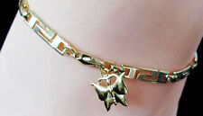 Sleek Sexy Anklet Adorned W Butterfly Charm Sexy Ankle Chain Greek Link Gold gep
