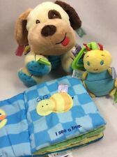 Lot Of Taggies Baby Toys Lovey Blanket Rattle Puppy Soft Book