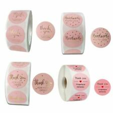 500pcs/roll Pink DIY Thank You Stickers Wedding Package Seal Labels