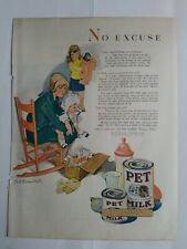 1928 Pet original evaporated milk Lucile Patterson Marsh children vintage art ad