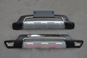2PCS Front Bumper / Rear Bumpers Bars Guard Board Cover Trim For Kia Sorento