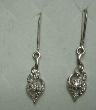 Diamond Leverback Earrings 8 diamonds  .08tcw MSRP$411