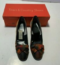 Vtg Retro Town & Country Multi Color Shimmery Pumps Heels Women's Shoes Size 5