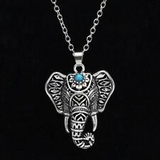 Elephant Pendant Necklace Retro Tibetan Silver Style Fashion Women Jewelry Charm