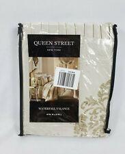 "Queen Street New York Kennedy Sand Waterfall Valance, 49""x33"""
