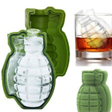 3D Silicone Grenade Shape Ice Cube Maker Bar Party Trays Mold Tool  Soldier Grün